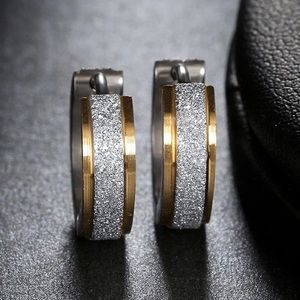 Jewelry - NIP Stainless Steel 2 Tone Eternity Hoops